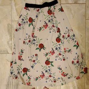 Tan Floral Maxi Skirt